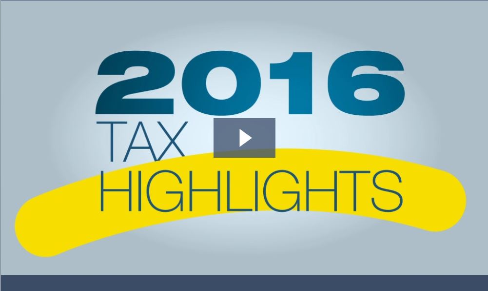 2016 Tax Highlights